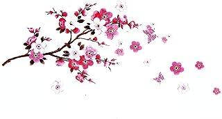 Pegatinas de pared de flor de Sakura - Extraíble Cherry Blossom Tree Branch Calcomanías Murales - DIY Home Decor Papel de pared para sala de estar Habitación de los niños - Dracarys