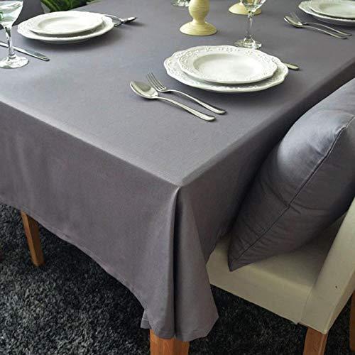 WEIFENG Mantel de algodón al por Mayor Mantel Universal Europeo Cubierta de Polvo Toalla Gris 140 * 140