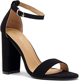 Rosemmina Womens Open Toe Ankle Strap Chunky Block High Heel Dress Party Pump Sandals