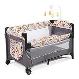 Bebé de noche cama cuna cama: 3-en-1 cuna portátil para los recién nacidos,...