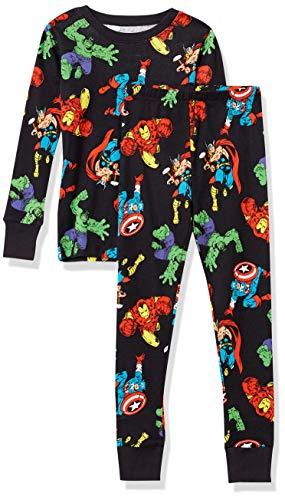 Amazon Essentials Jungen Disney Star Wars Marvel Snug-fit Cotton Pajamas Sleepwear Sets, 2-Piece Marvel Avengers, 2T