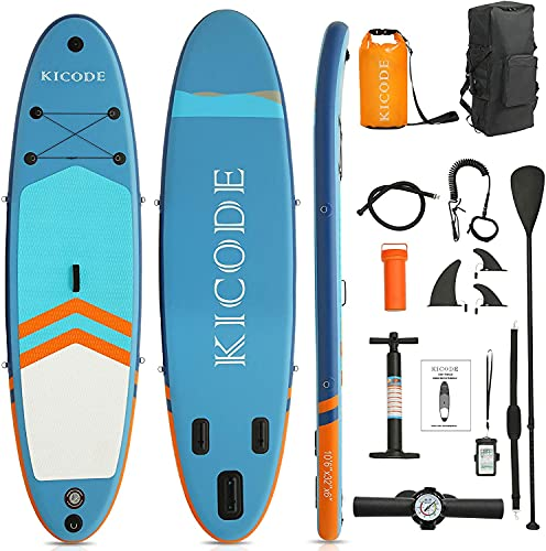 ephex Stand Up Paddle Board 320x81x15cm Premium Inflatable SUP Paddleboards Accessories & 10L Waterproof Bag, Bag, Fins, Non-Slip Deck, Leash, Paddle, and Pump, Waterproof Phone Pouch