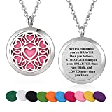 Stainless Steel Heart Aroma Therapy Aromatherapy Essential Oil Diffuser Necklace Locket Pendant
