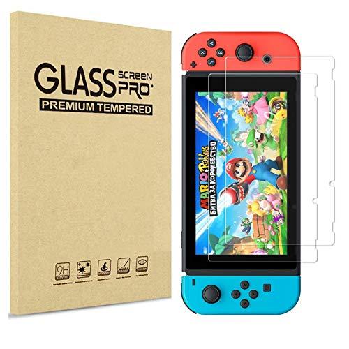 PHONILLICO Pellicola Vetro temperato per Nintendo Switch [2 Pezzi] Ultra transparente Durezza 9H Protezione schermo