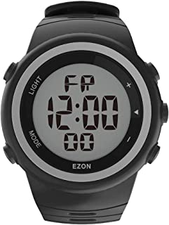 EZON Reloj Deportivo Digital para Hombre para Correr al Aire Libre con cronómetro, podómetro, Alarma, Resistente al Agua