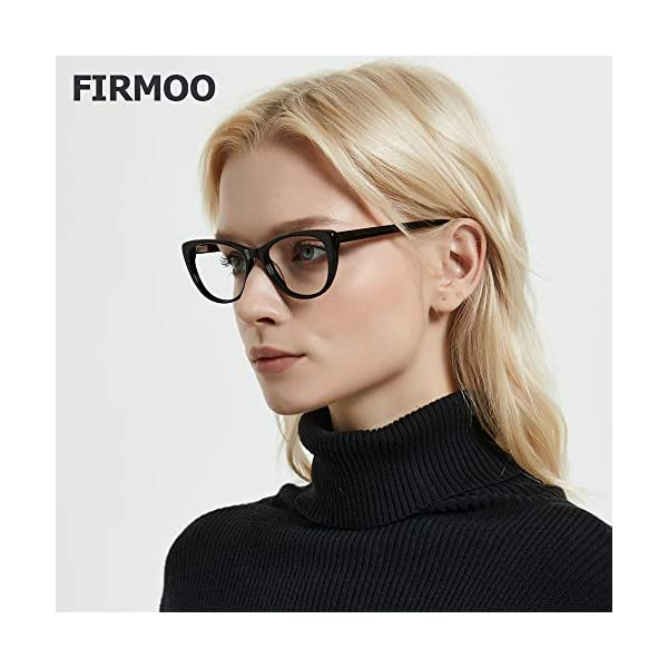 Firmoo Blue Light Blocking Glasses,Vintage Cateye Computer Reading Glasses with Magnification