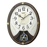 リズム(RHYTHM) 電波時計 掛け時計 高音質 6曲 メロディ 4MN554RH06