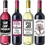 Sterling James Co. Paquete de Etiquetas del cumpleaños número 50 Chic - Suministros, Ideas y Decoraciones para Fiestas de cumpleaños - Regalos de cumpleaños Divertidos para Mujeres