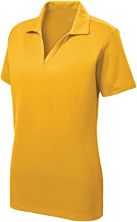 7d7dc58673d FREE Shipping on eligible orders. Women's Dri-Equip Short Sleeve Racer Mesh Polo  Shirts in Size XS-4XL