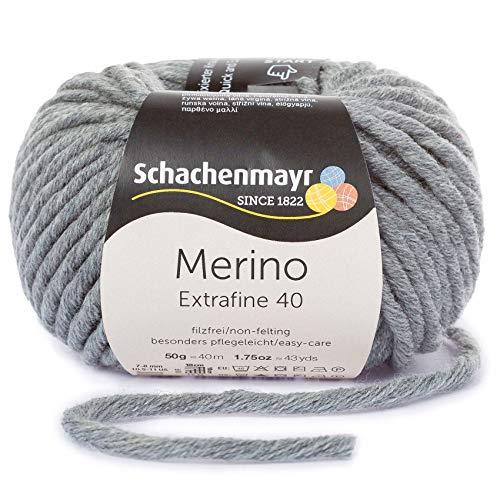 Schachenmayr Merino Extrafine 40 9807555-00391 flanell meliert Handstrickgarn, Schurwolle