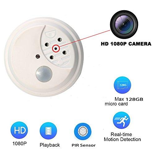 eoqo Cámara Espía, Sistema de Cámaras de Seguridad con Detección de Movimiento Full HD 1080P con IR, Visión Nocturna, Cámara Oculta a Batería | Tiempo de Espera Prolongado