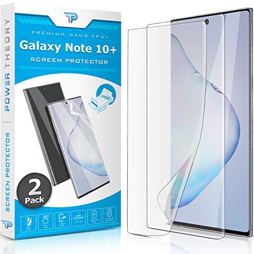 Power Theory Schutzfolie für Samsung Galaxy Note 10 PLUS [2 Stück] - [KEIN GLAS] 3D Nano-Tech Panzerglasfolie Panzerglas Folie, 100prozent Fingerabdrucksensor Einfache Installation Bildschirmschutz Panzerfolie