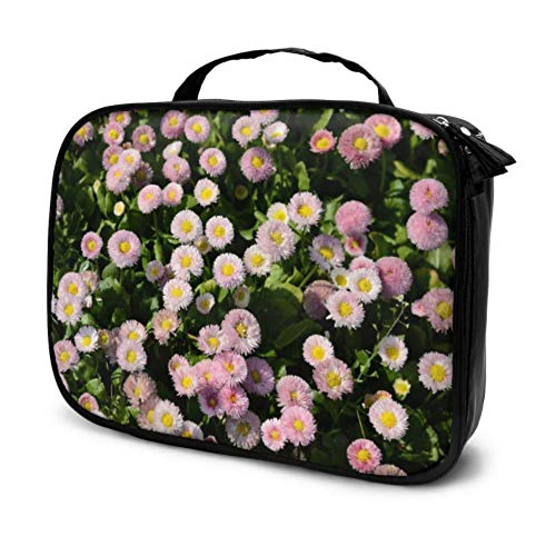 Flower Plant Flowers Red Flowers Travel Makeup Case Organizer Cosmetic Bag Small Makeup Bags Multifunction Printed Pouch for Women