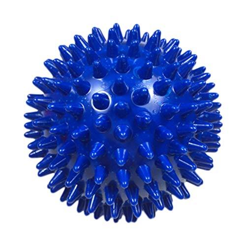 Massageball mit Noppen, für Plantarfaszitis, tiefes Gewebefuß, Rücken, Schultern, Beine, Muskeltherapie, 7 cm, Blau