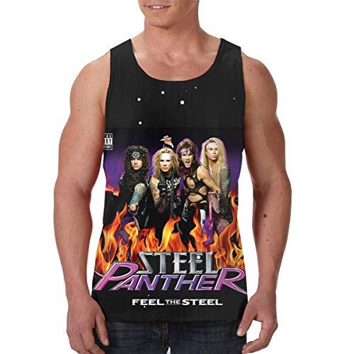 Men's Steel Panther Feel The Steel Basic Sleeveless Tank Top Jersey Tee T-Shirts Short Sleeve