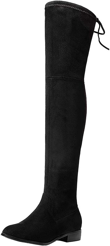MAYPIE Womens Toabsur Suede Zipper Knee-High Boots