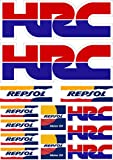 Pegatina Sticker ADESIVO AUFKLEBER Decals AUTOCOLLANTS Compatible con HRC REPSOL Honda Laminado PLIEGO (27 cm x 20 cm) 13 Unidades REF1