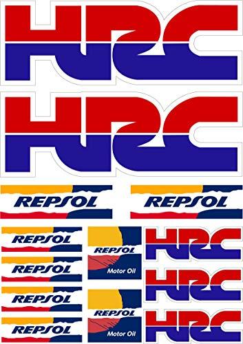 Aufkleber Aufkleber Aufkleber Aufkleber Aufkleber Autocollants Kompatibel mit Hrc Repsol Honda Laminat Bogen (27 cm X 20 cm) 13 Einheiten REF1