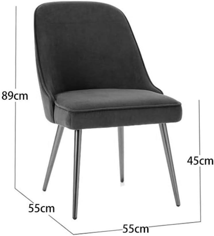 Stable Simple chaise bureau étudiant et chaise de maquillage tabouret retour à la maison à manger chaise d'ordinateur Gratuit (Color : Gray) Rose Red