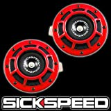 Sickspeed Red Super Loud Compact Electric Blast Tone Horn for Cars/Trucks/SUV 12V P1