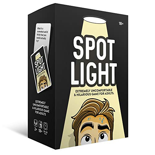 Spotlight Adult Drinking Card Game | Hilarious & Dirty NSFW Questions for The Best Party or Game Night | Filthy Inappropriate Entertainment for Singles and Couples 17+
