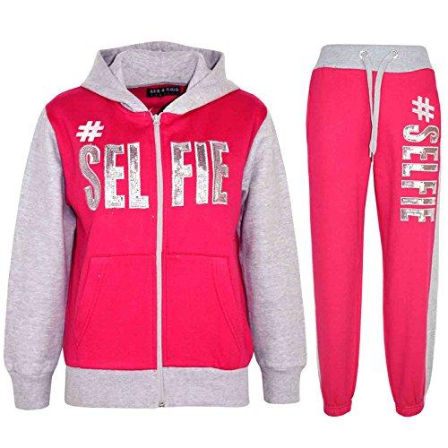 A2Z 4 Kids A2Z 4 Kids® Kinder Mädchen Jungen Designer - T.S #SELFIE Pink & Grey 9-10