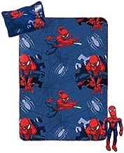 Jay Franco Marvel Spiderman Travel Set - 3 Piece Kids Travel Set Includes Blanket, Pillow, Plush (Offical Marvel Product)