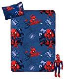 Marvel Spiderman Travel Set - 3 Piece Kids Travel Set Includes Blanket, Pillow, & Plush (Offical Marvel Product)