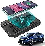 Cargador inalámbrico para coche,10W Qi de carga rápida, 3 bobinas, cargador de teléfono,alfombrilla para Honda CR-V 2019 2018 2017,consola central,panel de accesorios,almohadilla de carga inalámbrica