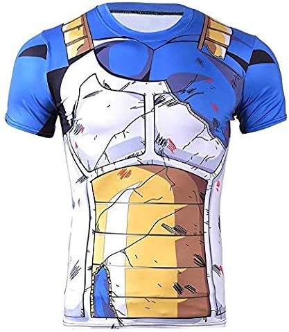 Cosplay Camiseta compresión Vegeta Battle Armor - Camiseta musculosa