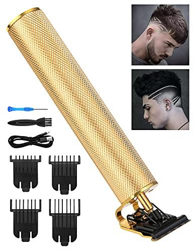 Wirhaut Haarschneider, 5 in 1 Rutschfest Bartschneider,haarschneidemaschine profi Haarschneider nackter Trimmer mit T-Klinge Bodygroomer Weihnachtsgeschenk Geburtstagsgeschenk(Golden)