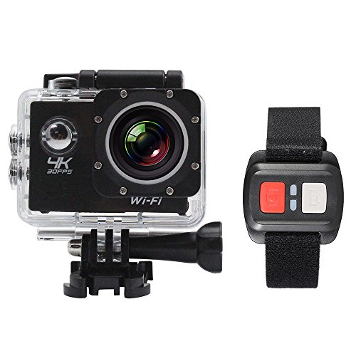 Andoer Action Cam 4K WiFi Full HD 16MP 1080P 2'' Subacqueo Action Sport Camera 170° Grandangolare Impermeabile 30m con Telecomando