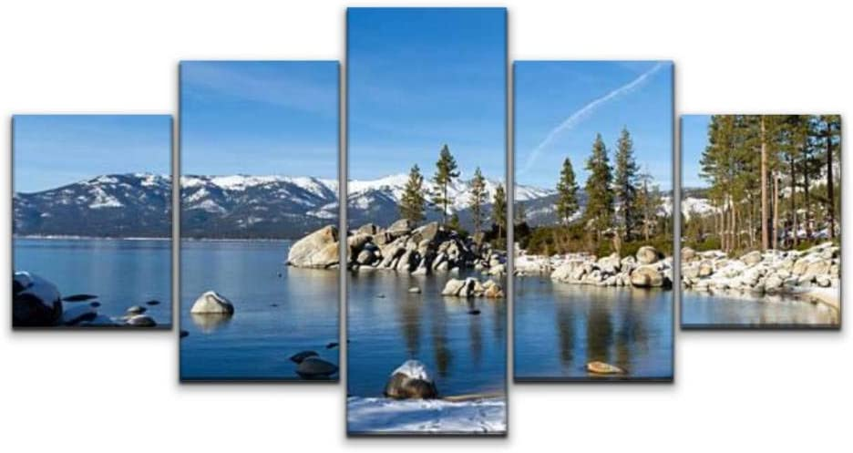 XEPPO 5 Panels Max 46% OFF Wall Art Print On Canvas Max 59% OFF Tahoe Lake St