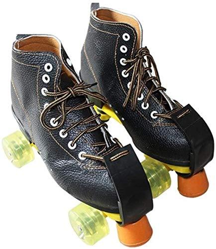 THMY Zweireihige Rollschuhe Klassische High-Top-Allrad-Skates für Innen- und Außenbereiche für Erwachsene Kinder Vollblitzrad Schwarz, B, 35 EU / 4 US / 3 UK / 22,5 cm JP