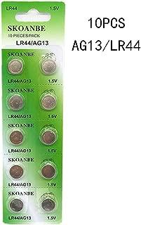 SKOANBE 10PCS AG13 LR44 357 303 SR44 1.5V Battery Button Coin Cell Batteries