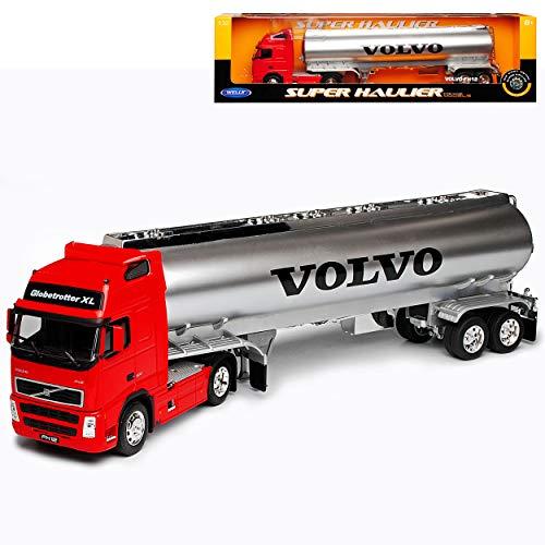 Volvo FH12 Tanklaster Rot LKW Truck 1/32 Welly Modell Auto mit individiuellem Wunschkennzeichen