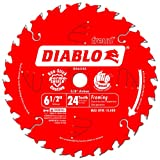 Freud D0624X Diablo 6-1/2-Inch 24-Tooth ATB Framing Saw Blade with 5/8-Inch...