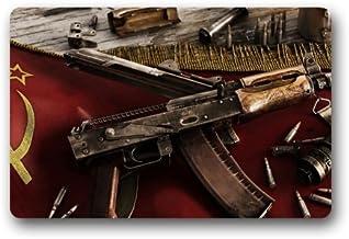 USSR-Flag-and-AK-47-Kalashnikov-rifle-90x080 Customized Doormat Entrance Mat Floor Mat Rug Indoor/Front Door/Bathroom/Kitc...