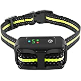 Bark Collar Dog Bark Collar Rechargeable Shock Collar with Beep...