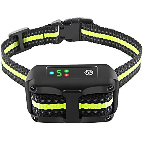 Bark Collar Dog Bark Collar Rechargeable Shock Collar with Beep Vibration Dog Shock Collar for Small Medium Large Dogs
