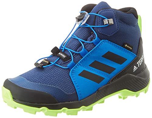 adidas Terrex Mid GTX K, Zapatillas para Carreras de montaña, Tech Indigo/Core Black/Signal Green, 37 1/3 EU