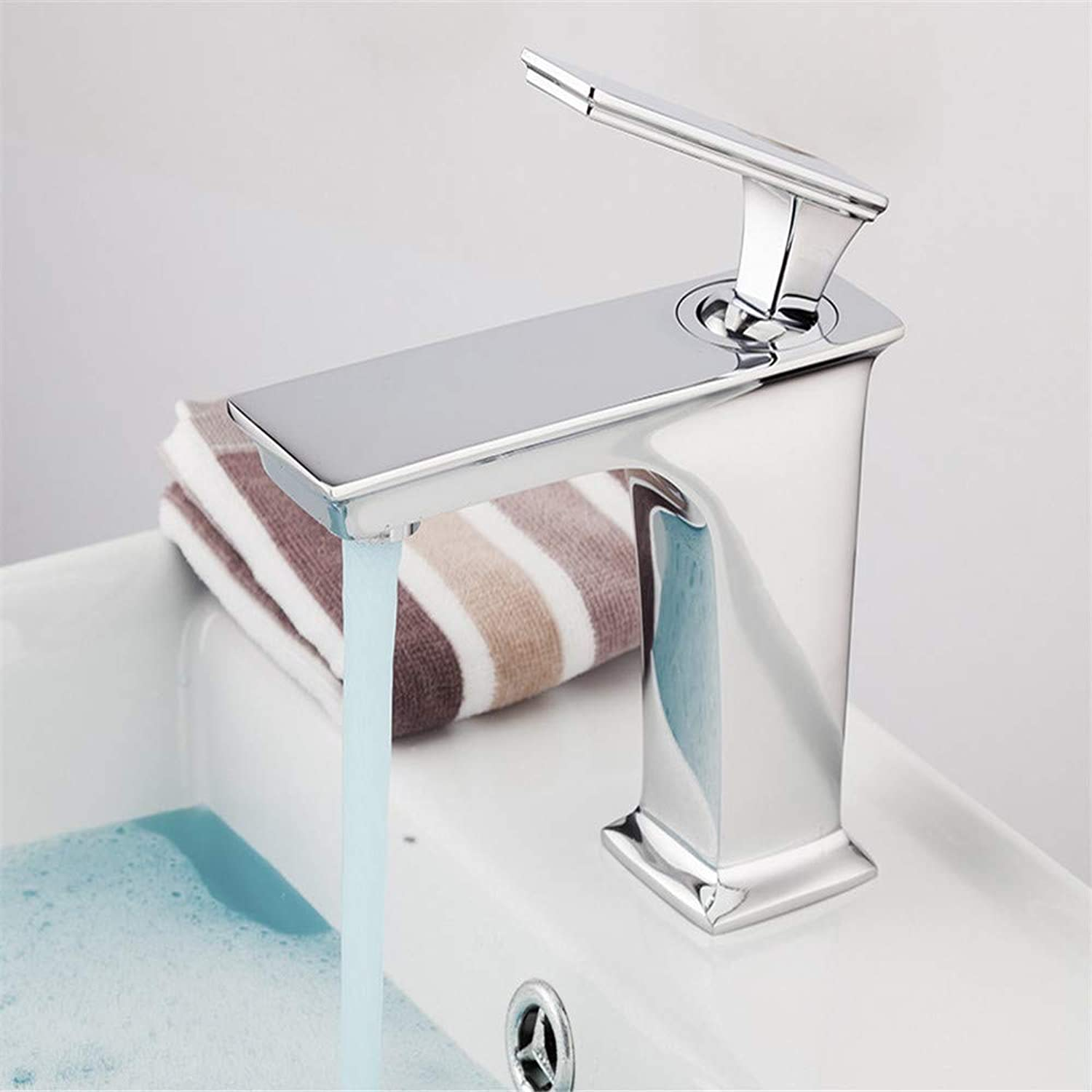 Brass Chrome Modern Faucet Bathroom Taps Waterfall Sink Faucets Deck Mounted Mixer Bath Sink Faucets