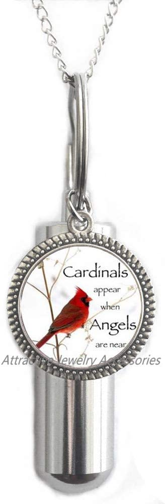 Wklo0avmg Red Cardinal All items free shipping Bird New mail order Urn Cremation Jewelry