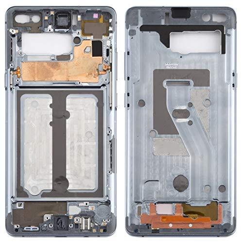 BEIJING  SCREENCOVER+ / Placa de Bisel del Marco Medio con Llaves Laterales para Galaxy S10 5G, Reemplazo LCD Placa Placa ATRÁS BIELEL (Color : Grey)