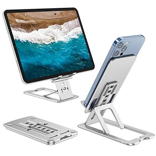 Henpone - Soporte para teléfono móvil superfino, color negro para Samsung Huawei, soporte universal ajustable para smartphone de viaje para tableta Nintendo Switch