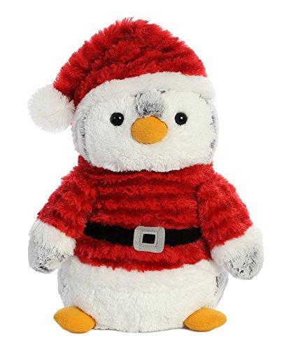 Aurora 99010 Pompom Pinguin Santa, grijs/rood, 35,6 cm