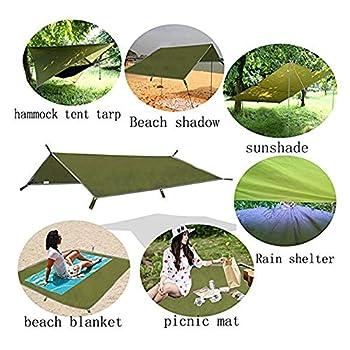 Tente de Camping Tarp Shelter,3M Grand Abri de Camping Coupe-Vent Neige,Abri Bâche Hamac Tente PU 1500MM Imperméable,avec Sac de Rangement Portable pour Voyages en Plein Air