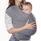 echarpe de Portage, Lictin l'Echarpe Portage Fait de Coton Elastique, echarpe Multifonctionnel pour les Nouveau-nes et Bebes...