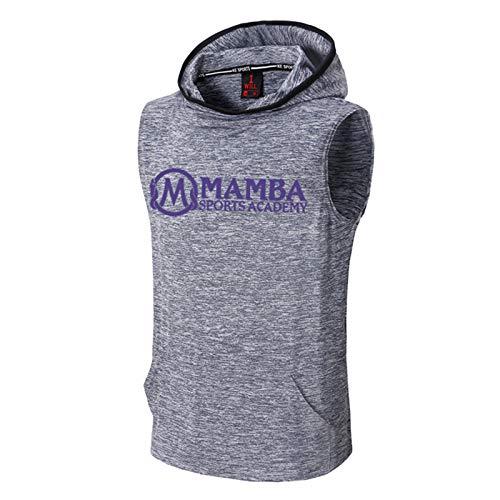 Lakers Kobe 24# - Sudadera con capucha para hombre con capucha y capucha para hombre, absorbe la humedad, transpirable y de secado rápido, sin mangas, uniforme de entrenamiento, S-2XL Mamba B-XL