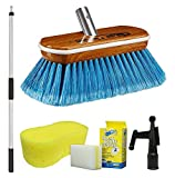 "Star brite 040177-1FF Premium Boat Brush 3'-6' Handle Combo with 8"" Medium Fiber Block Brush, Blue"